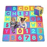 36PCS Eva Morbida Cassaforte di Schiuma Tappeto Gioco Imparare Alfabeto Numero Puzzle per Neonati Bambini Ragazzi UK da Trimmingshop - Large