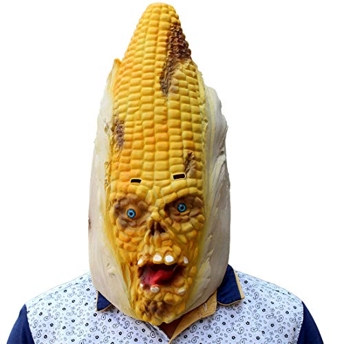 (JUKUB Halloween-Dekoration Horror-Mais-Maske Kostüm Maske Cosplay Vollkopf Maske Latex Fire Wolf)