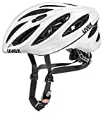 Uvex Fahrradhelm Boss Race, Weiß / glänzend