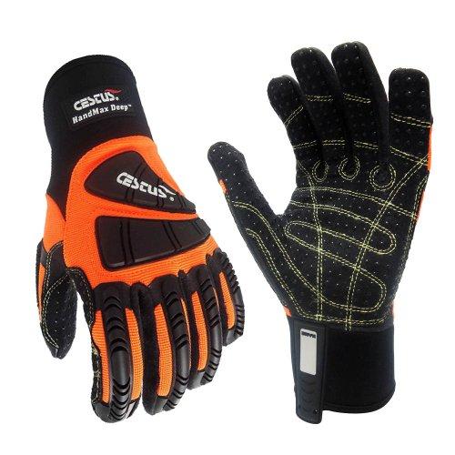 Profondeur ceste 3015 4 x l Pro Series handmax Deep Impact Gants, Coupe travail, résistant aux, 4 x l, orange