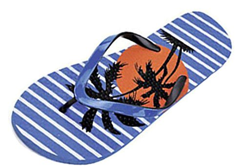 Damen Flip Flops Zehentrenner Sandalen motiv tropischen Strand. Motif 15