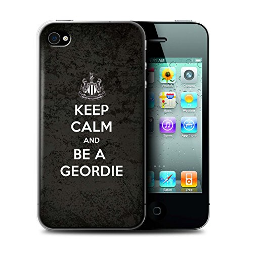 Offiziell Newcastle United FC Hülle / Case für Apple iPhone 4/4S / Pack 7pcs Muster / NUFC Keep Calm Kollektion Geordie