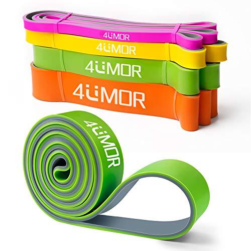 4UMOR Widerstandsbänder fitnessband grün, Power Pull-Up Stretch Band Für Fitness Fitnessbänder für Power-Training, CrossFit,Widerstandsbänder Krafttraining,Gymnastik, Stretching und Yoga