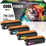 Cool Toner 4 Pack Compatible TN325 TN-325 TN325BK TN325C TN325Y TN325M pour Brother HL-4140CN HL-4150CDN HL-4547CDW HL-4570CDWT Printer Brother DCP-9055CDN DCP-9270CDN MFC 9460CDN 9465CDN 9970CDW
