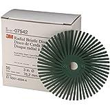3M Scotch-Brite  Disco Radial Bristle  RD-ZB, Verde, 76 mm, P50, 2/ Caja