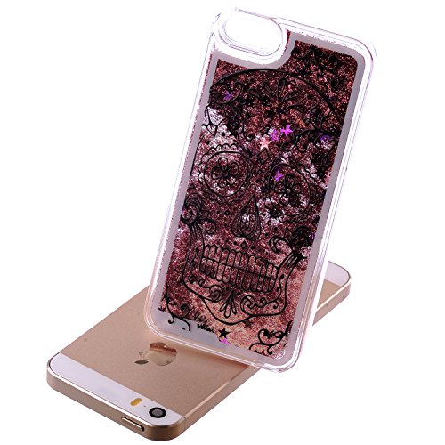 iPhone 6 Hülle iPhone 6S Hülle,iPhone 6S Case,EMAXELERS Hart Plastik Schutzhülle Hülle Case Cute Cherry Blossom Rabbit Muster Hart Transparente Clear Cover Silver Pink Animals Series Sparkles Diamant  Animal Series 2
