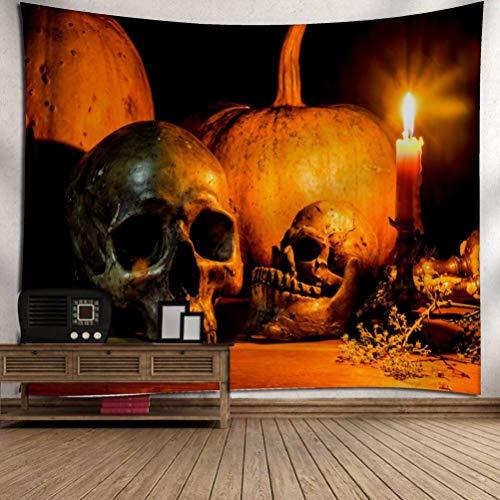 Kostüm Selbstgemacht Indianer - VEMOW kommende Halloween Mond Kürbis Tapisserie Zimmer Tagesdecke Wand Kunst hängenden Home Decor Grand 130cm x 150cm/51.18