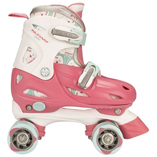 Nijdam Junior Rollerskates Kinder (30-33||rosa weiß hellblau)
