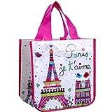 Cabas - Petit Sac - Paris je t'aime Sac à poignées. En plastique. Hauteur : 30 cm.