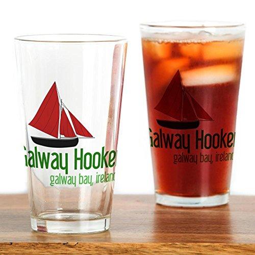 CafePress–Galway Hooker–Pint-Glas, 16oz Trinkglas farblos