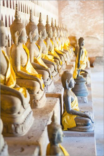 impression-sur-bois-80-x-120-cm-buddhas-at-wat-si-saket-the-oldest-temple-in-vientiane-laos-indochin