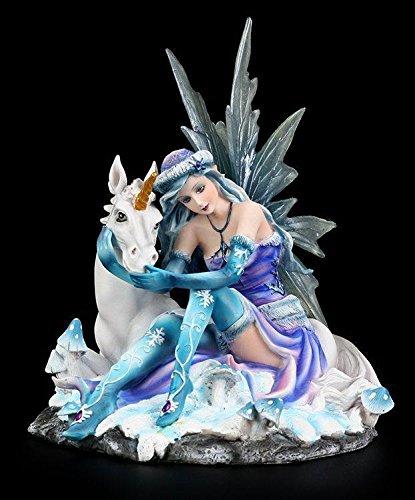 Elfen Figur - Mia mit Einhorn - Fairy Elfenfigur Elfe Fee Deko