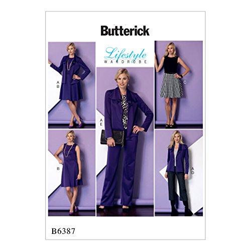 Butterick Patterns Schnittmuster/Petite Jacke, Kleid und Hose, Mehrfarbig, Größen 6-14 -