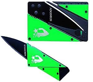 Adonius® High Quality coltello carta di credito per le borse (verde)