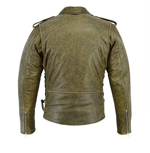 BIKERS-GEAR-motorcycle-vintage-pelle-di-bufalo-rimovibile-CE-1621--1-PU-Armour-Harley-Brando-giacca-anticata-marrone-taglia-2-x-L