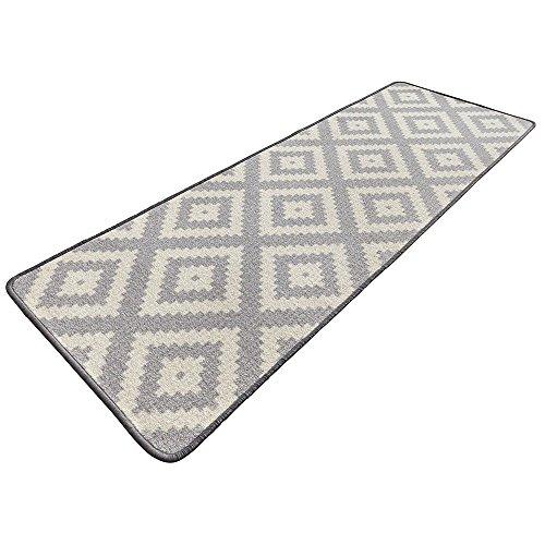 Bavaria Home Style Collection Raute - in grau - Küchen-Läufer - Teppich ca. 67 x 180 cm (grau) (Küche, Teppich Läufer)