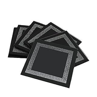 Aulica Set Untersetzer 6-Glas Black Strass