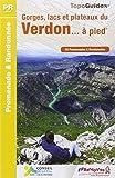 Gorges, lacs et plateaux du Verdon à pied : 20 promenades et randonnées