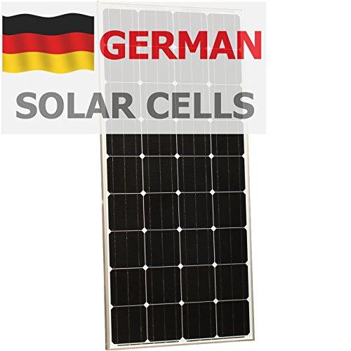 170 Watt-solar-panel (180W Photonic Universe Solar Panel aus deutschen Solar Zellen, für ein Wohnmobil, Wohnmobil, Wohnwagen, Boot, Yacht oder für andere Fahrzeug oder marine Anwendung, oder ein netzferne Solar Power System (180Watt), optimale Wahl für Laden eines 12V Akku)