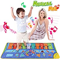 Anpro 51*18.9 inch (130*48cm) Baby Play Mat,Piano Mat with Oversize Piano Keys and Many Function Keys, Best Gift for Kids