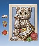 Sollievo forme/giessformen/Gesso Figure immagine con gatto e parti decorative