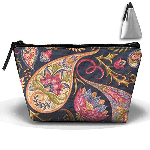 MIPU SHANGMAO Cute Otter Stretch Trapezoidal Storage Bag Double Print Handbag Zipper Package Coin Purse Cosmetic Pouch Wallet Pencil Holder Zipper -