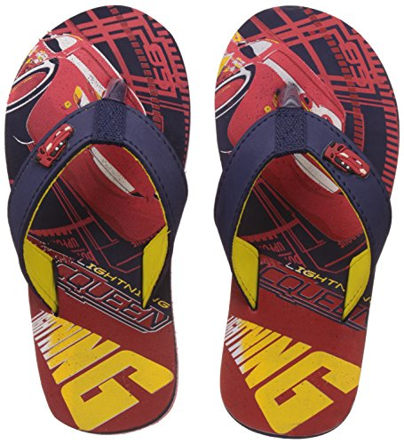 Cars Boy's Red/Navy Flip-Flops and House Slippers - 11 kids UK/India (30 EU)