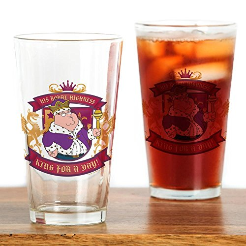 CafePress-Family Guy König für einen Tag-Pint-Glas, 16oz Trinkglas farblos Family Guy Bier