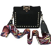 f733462347eb9 Umhängetaschen Damen Nieten Rechteckig Crossbody Tasche Klein Deckel  Umdrehen Damentasche PU Leder Mini Damenhandtaschen Für Frau