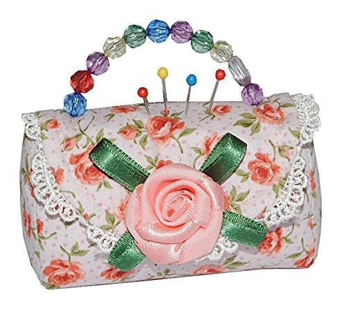 Tasche Zuschneiden (Nadelkissen / Notizzettel Tasche mit Rosen - Nähen Handarbeit für Stecknadeln Nähzubehör Nadel Tier)