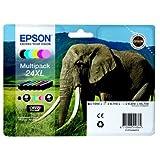 Epson Original T2438 Elefant, Claria Photo HD Tinte (hochauflösende Fotodrucke, Multipack 6-farbig, CYMK) light cyan, light magenta