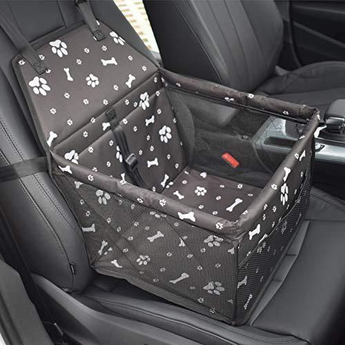 LYJKJGS Pet Car Booster Seat Für Kleine Hunde Katzen Atmungsaktiv Wasserdicht Pet Car Seat Protector Mit Sicherheit,Black (Pet-booster Träger)