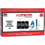 [Sponsored]Ink Refill Kit For HP 901,818,803,802,704,703,680,678,56,46,27,21 Black Cartridge (300ml Ink, Tools For Ink Filling And Cartridge Head Cleaning), Red Star Brand