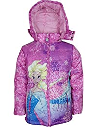 Niñas Disney Frozen Chaqueta con capucha de invierno Azul
