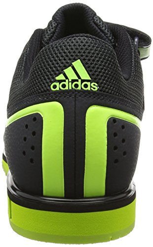 adidas Powerlift2, Chaussures Multisport Indoor Mixte Adulte Gris (Dark Grey/Solar Yellow/Core Black)