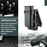 Cytac Magazintasche Universal für alle für alle einreihigen und zweireihigen Pistolen Magazine Ziehwiderstand einstellbar Neigungswinkel in 3 Positionen fixierbar