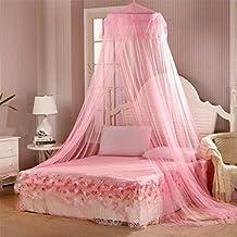 good01 rundes polyester bett baldachin netz princess moskitonetz rose m - Prinzessin Bett Baldachin Mit Lichtern