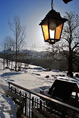 Foto ein 30,5 x 45,7 cm Fotodruck Les Gets Portes Du Soleil Ski Region Haute Savoie Französischen Alpen Frankreich Mountain Querformat Hochformat Foto Farbe Bild Art Print (Porta Fotos)