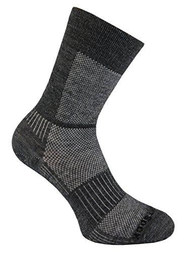 Wrightsock, Socken Merino Coolmesh II dünn, crew grey-white (M)