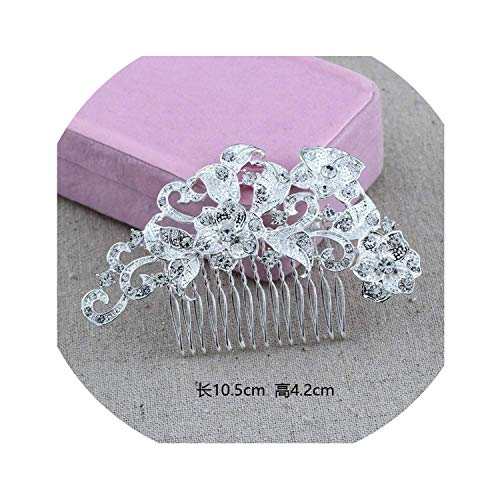 Carr Coverdale Crown Tiara Nuziale in Lega con Strass, Pettine con Perle e Pettine e NA, Colore: As Picture3