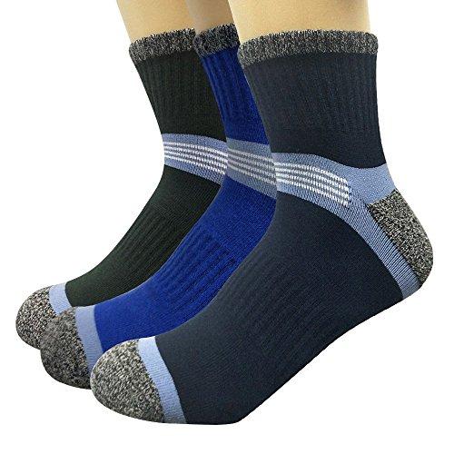 Ambielly calcetines de algodón calcetines térmicos Adulto Unisex Calcetines (3 Al aire libre para los hombres)