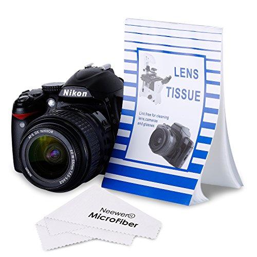 Galleria fotografica Neewer® Kit di Carta Ottica e Stoffa per Pulizia di Obiettivi delle Fotocamere: 30 Libretti di Fazzoletti Monouso Senza Filacce per Obiettivi (50 Fogli in Ogni Libretto) + Stoffa di Pulizia in Microfibra Ultra Sottile