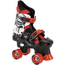 Osprey Quad Skate, Pattini a rotelle Bambino, Nero / Bianco / Rosso, 28-31