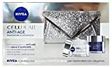 cofanetto nivea cellular anti-age - crema giorno 50 ml + crema notte 50 ml + clucht bag