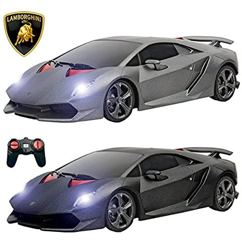 PTL® Lamborghini Sesto Elemento Remote Control Cars with Working Lights, PL619 1:24 Licensed Electric Radio Controlled RC Cars for Kids Top Popular Best Boys Girls Car Toys, RTR