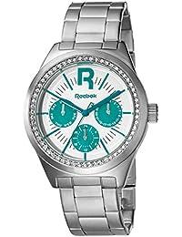 Reebok RC-CDD-L5-S1S1-WT - Reloj de cuarzo para mujer, correa de acero inoxidable color plateado