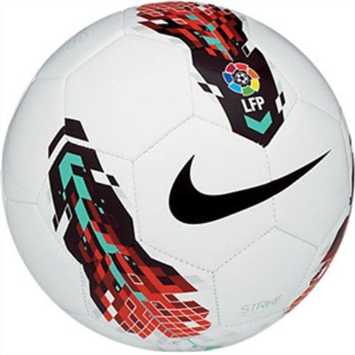 Nike Strike Liga de Fútbol Profesional (LFP) - Balón de fútbol, color blanco / negro / rojo / azul, talla 5