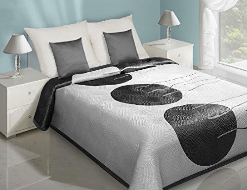 Eurofirany CHON/Rita/B + Czar/220Copriletto 220x 240cm, due lati, letto tramite istantanea, bianco/nero