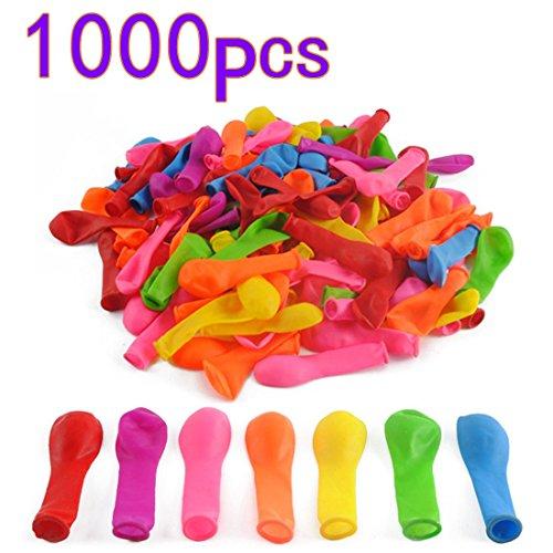 MAJOZ Luftballons 1000er Set Wasserbomben Sommerspaß Geburtstagsfeier mit 5er Kleiner Trichter