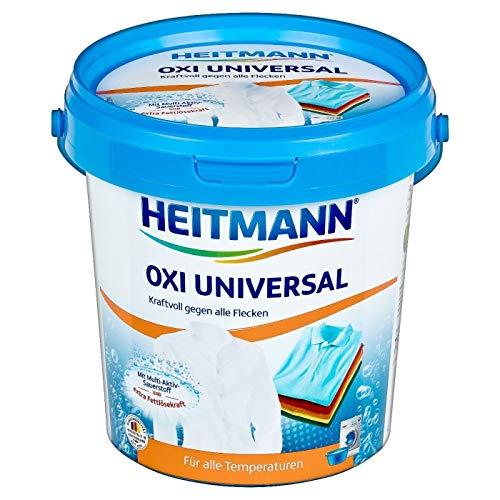 Heitmann Oxi Multi Fleckenentferner: Universal Fleckenlöser für weiße und bunte Textilien, Fettlöser, 750g Eimer